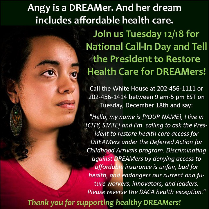 Restore Health Care for DREAMers